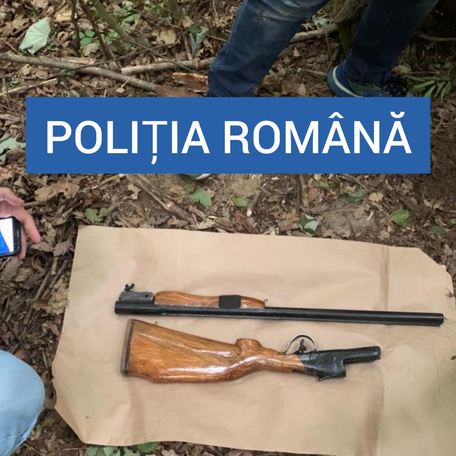 confiscare pușcă artizanală de vânătoare Bocșa (2)