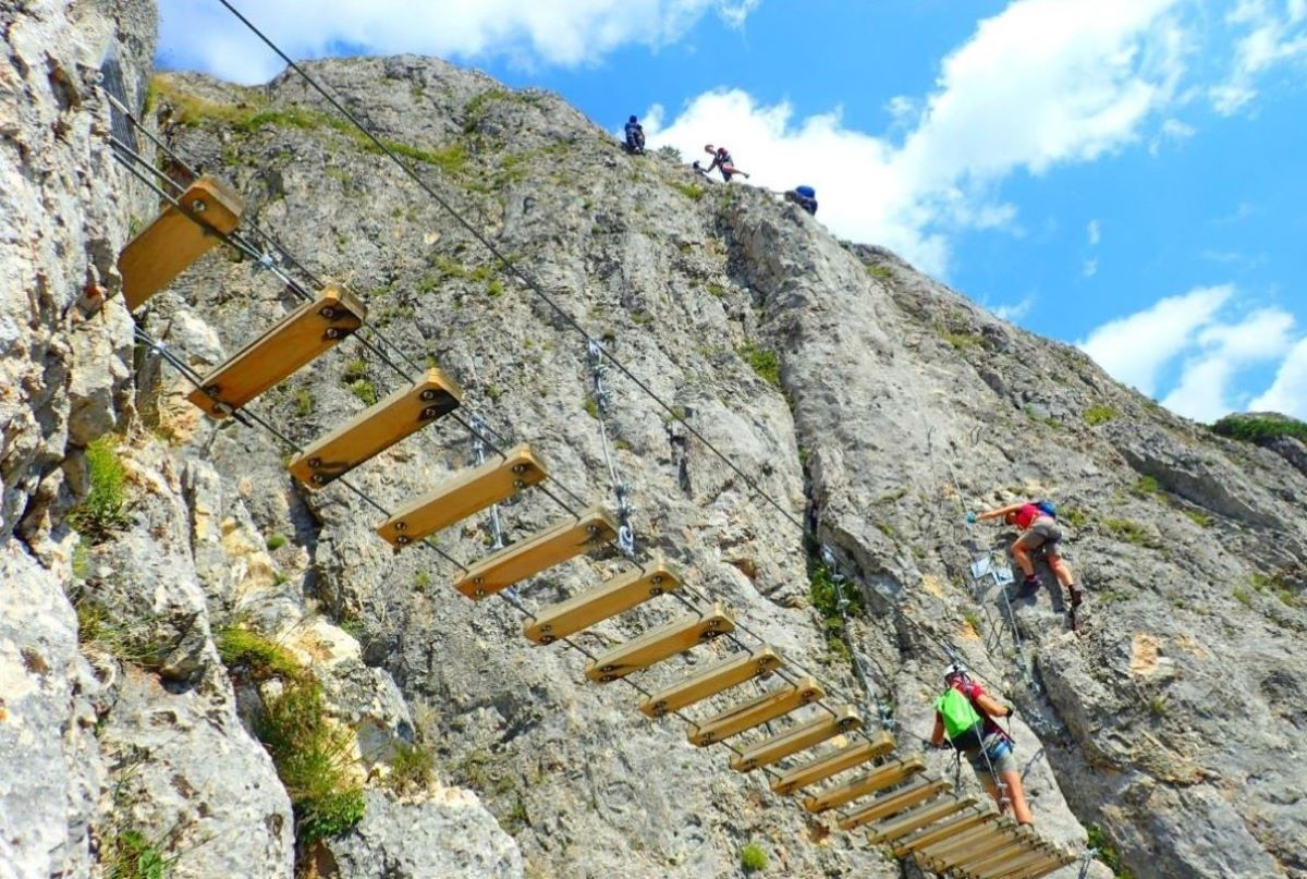 traseu de via ferrata